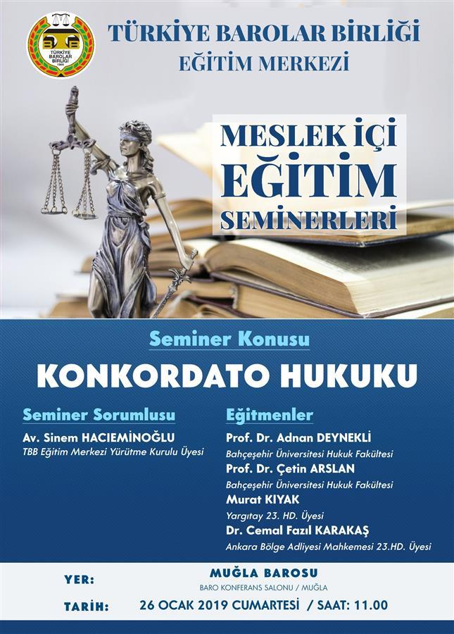 "MESLEK İÇİ EĞİTİM SEMİNERİ "" KONKORDATO HUKUKU """